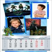 детский календарь мальчик